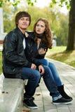 Jonge mensen in conflictverhouding Stock Foto's