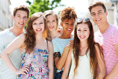 Jonge mensen het glimlachen Royalty-vrije Stock Foto's