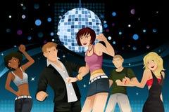 Jonge mensen het partying royalty-vrije illustratie