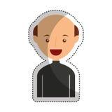 jonge mensen kaal avatar karakter Stock Afbeelding
