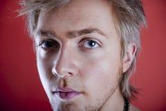 Jonge mensengezicht Royalty-vrije Stock Afbeeldingen