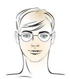 Jonge mensengezicht Stock Afbeelding