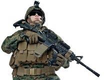 Jonge militair stock foto
