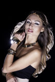 Jonge modieuze vrouw royalty-vrije stock fotografie