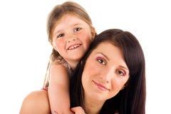 Jonge moeder en dochter Stock Fotografie