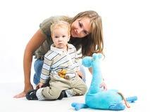 Jonge moeder en jongen Stock Fotografie