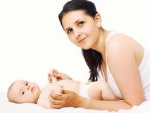 Jonge moeder en zuigeling royalty-vrije stock fotografie