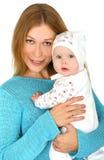 Jonge moeder met babymeisje Stock Fotografie