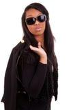 Jonge Mooie Afrikaanse amareican Vrouw Royalty-vrije Stock Foto's