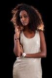 Jonge mooie Afrikaanse vrouw Royalty-vrije Stock Fotografie
