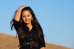 Jonge mooie Aziatische vrouw Royalty-vrije Stock Afbeelding