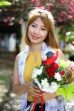 Jonge mooie Aziatische vrouw Royalty-vrije Stock Foto's