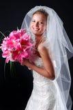 Jonge mooie bruid Royalty-vrije Stock Afbeeldingen