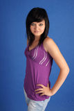 Jonge mooie brunette Stock Foto's