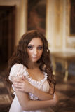 Jonge mooie dame Royalty-vrije Stock Foto