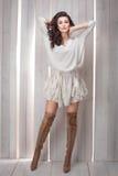 Jonge mooie donkerbruine vrouw Royalty-vrije Stock Afbeeldingen