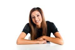 Jonge mooie gelukkige Aziatische Indische tiener Royalty-vrije Stock Foto
