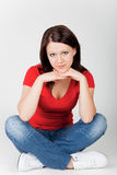 Jonge mooie glimlachende vrouw Stock Fotografie