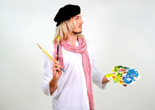 Jonge mooie kunstenaar stock fotografie