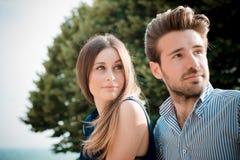 Jonge mooie paarminnaars Royalty-vrije Stock Foto's