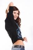 Jonge mooie sexy donkerbruine vrouw Stock Afbeeldingen