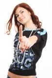 Jonge mooie sexy donkerbruine vrouw Royalty-vrije Stock Fotografie