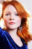 Jonge mooie sexy rode vrouw Royalty-vrije Stock Fotografie