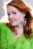 Jonge mooie sexy rode vrouw Royalty-vrije Stock Foto's
