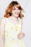 Jonge mooie sexy vrouw op het wit Stock Foto