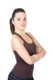 Jonge mooie sportieve vrouw Royalty-vrije Stock Afbeelding