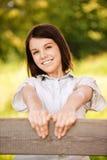 Jonge mooie vrolijke vrouw Royalty-vrije Stock Foto