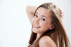 Jonge mooie vrouw Stock Foto's