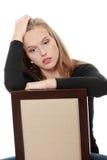 Jonge mooie vrouw met depressie Royalty-vrije Stock Afbeeldingen