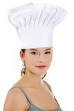 Jonge mooie vrouwelijke kok Royalty-vrije Stock Afbeelding