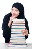 Jonge moslim vrouwelijke student Stock Foto's