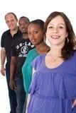 Jonge multiraciale groep stock foto's