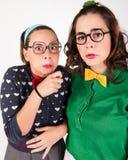 Jonge nerdy meisjes Stock Fotografie