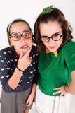 Jonge nerdy meisjes Stock Afbeelding