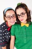 Jonge nerdy meisjes Royalty-vrije Stock Afbeeldingen