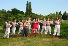 Jonge Oekraïense dansers Stock Foto's