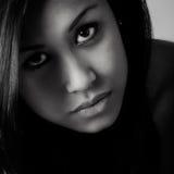 Jonge omhoog dichte beautifull Afrikaanse vrouw Royalty-vrije Stock Fotografie