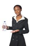 Jonge Onderneemster met een fles water royalty-vrije stock fotografie
