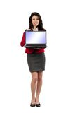 Jonge onderneemster met laptop Royalty-vrije Stock Foto's