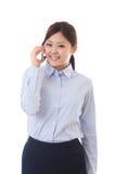 Jonge onderneemstertelefoon Stock Afbeelding