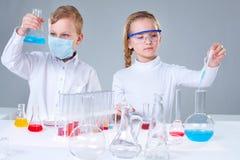Jonge onderzoekers stock foto