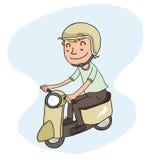 Jonge personenvervoerautoped Stock Afbeeldingen