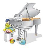 Jonge pianist Stock Foto's