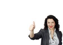 Jonge positieve vrouw Stock Afbeelding
