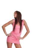 Jonge positieve vrouw Royalty-vrije Stock Afbeelding