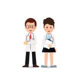 Jonge professionele medisch teamarbeiders royalty-vrije illustratie